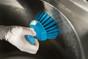 Vikan Round Scrub Brush in Action