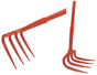 "Unirake Grape Rake with 60"" Handle Closup"