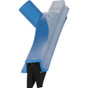 "24"" Double Foam Squeegee with 60"" Handle in Blue (Side View)"
