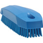 "Vikan 6440 5"" Small Hand and Nail Brush in Blue (Front View)"