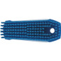 "Vikan 6440 5"" Small Hand and Nail Brush in Blue (Bottom View)"