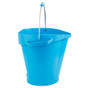 Vikan 5692 5 Gallon Bucket/Pail in Blue (Side View)