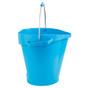 Vikan 5692 5 Gallon Bucket/Pail in Blue (Side View)