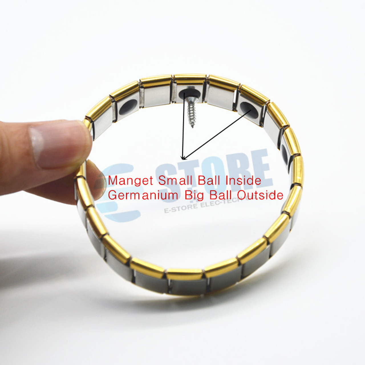 b01dcf34f4ff9 ... 10pcs Magnetic Bracelet Men Stainless Steel Bangles Power Energy  Wristband With Germanium Stone Health Fashion Jewelry ...
