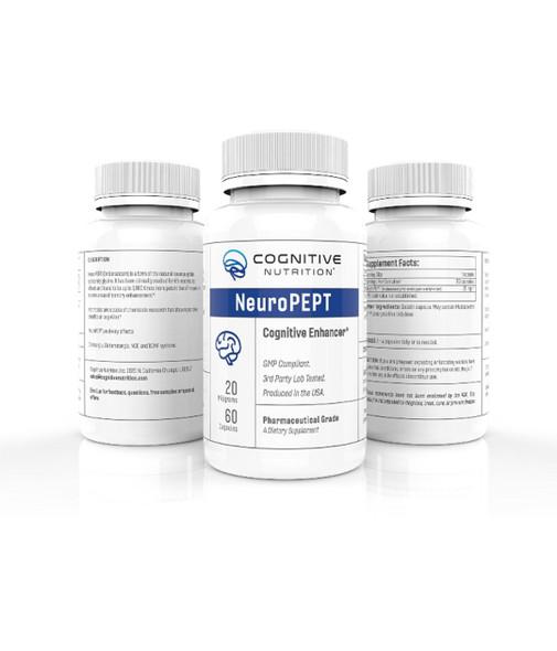 NeuroPEPT 20 mg 60 capsules. 3rd generation Nootropic. 1000 times stronger than The Original Racetam