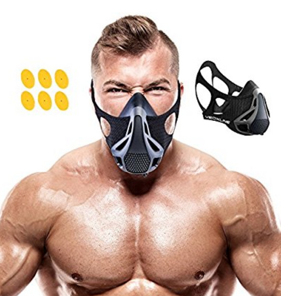 VEOXLINE Training Mask | Sport Workout for Running Biking Fitness Jogging Cardio Endurance Exercise Breathing with Air Flow Level Regulator for Men Women | Simulate High Altitude Elevation Effects