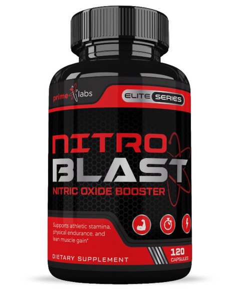 Muscle Builder Nitric Oxide Booster :: Supplements to Increase Recovery, Enhance Blood Flow, Strength, Stamina, and Endurance with L-Arginine :: 120 Capsules by Prime Labs