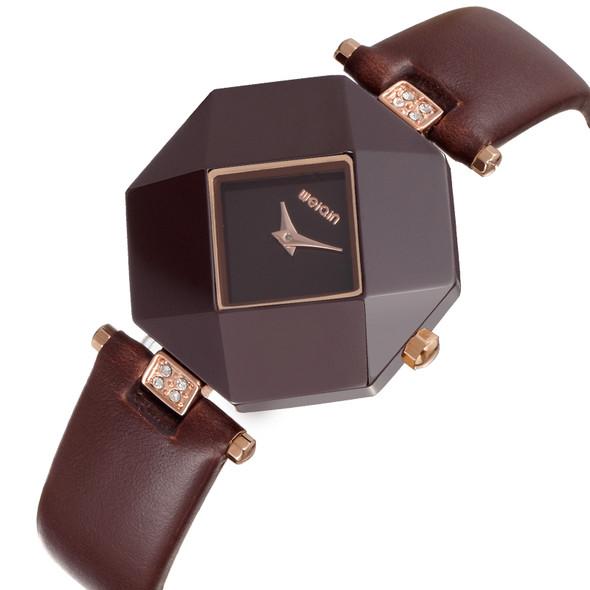 WEIQIN Top Brand Luxury Women Watches PU Leather Band Fashion Quartz Watch Woman 3ATM Waterproof Clock