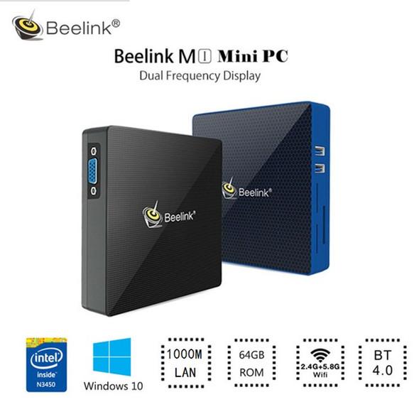 Beelink M1 Win10 Bluetooth 4G / 6G 64G Mini Smart TV Box 5G WiFi Set Top Box Windows 10 Mini PC Quad Core 4K Media Player Boxs