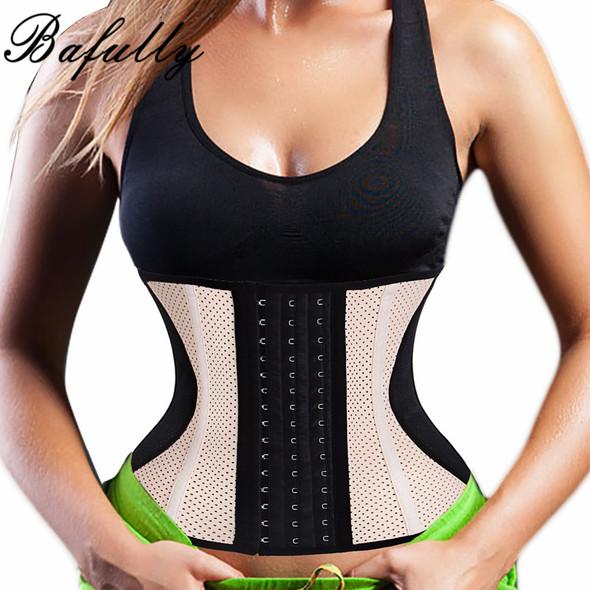 Steel Bone Waist Trainer Latex Rubber Cincher Corset Thermo Sweat Sauna Body Shaper Fitness Slimming Belly Belt Women Shapewear