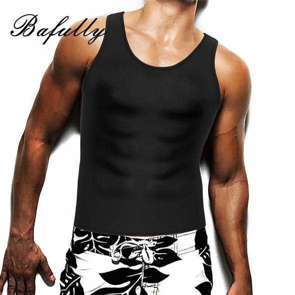 Men Neoprene Belly H Back Shapers Waist Trainer Sauna Sweat Suits Tops Slimming Sheath Shapewear Posture Shaper Vest no Zipper