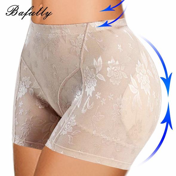 Women's Slim Waist Corrective Butt Lifter Underwear with Padded Butt Enhancer Booty Lifter Trainer Briefs Tummy Control Panties
