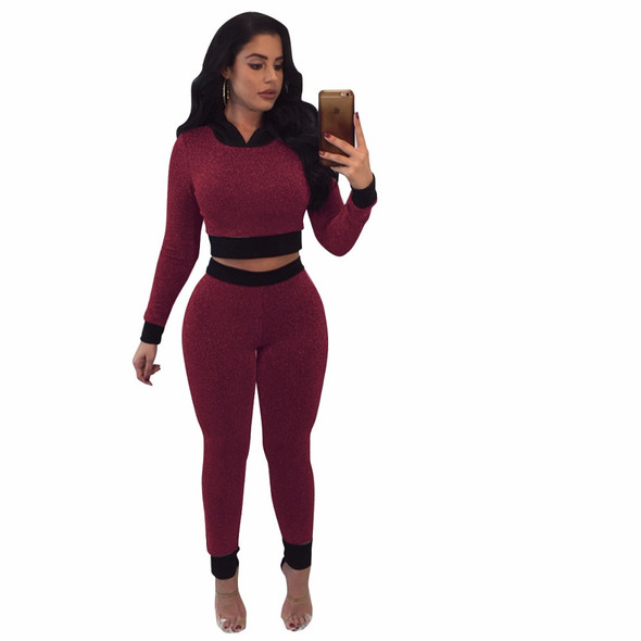 Gold silk sexy Women Jumpsuits Two Piece Set Long Sleeve for the Bodycon Jumpsuit Rompers Casual Slim Overalls Clubwear S-XL