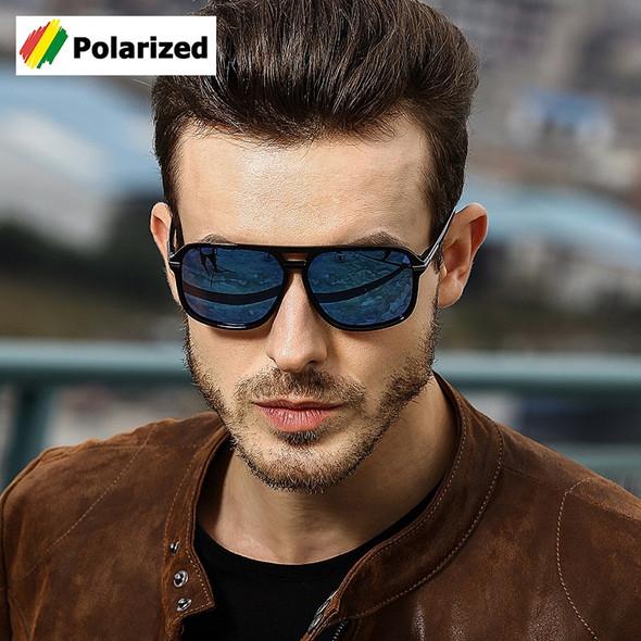 Fashion Classic Square Aviation Style Polarized Sunglasses Men Driving Brand Design Sun Glasses