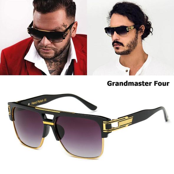 New Fashion Brand Design Grandmaster Four Sunglasses Men Vintage Retro Hip Hop Style Sun Glasses
