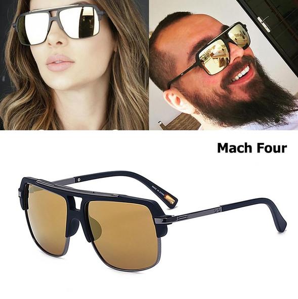 New Fashion Mach Four Square Style Sunglasses Vintage Women Men Man Brand Design Sun Glasses UV400