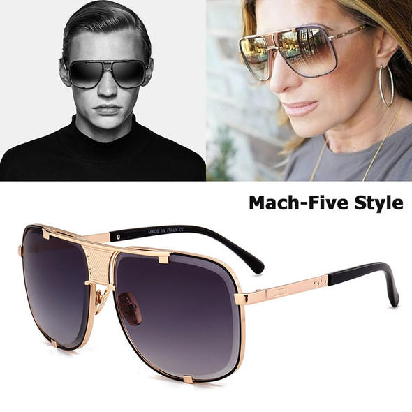 New Fashion Cool Mach Five Style Aviation Sunglasses Brand Design Metal Limited Edition Sun Glasses