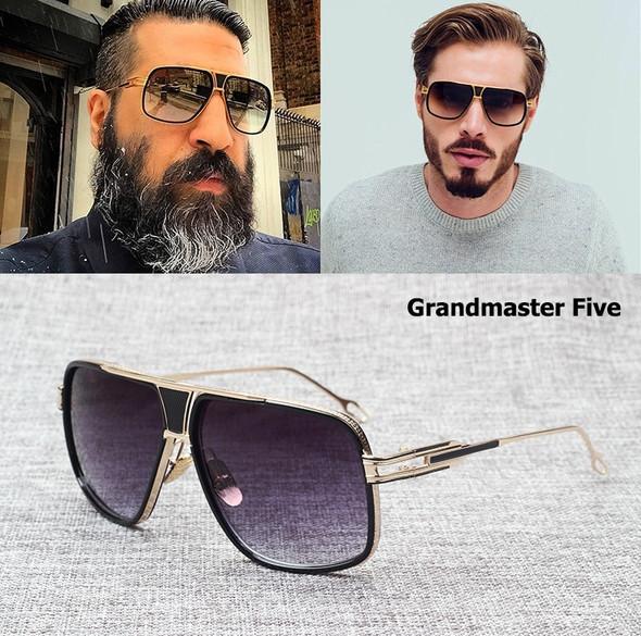 Fashion Brand Design Grandmaster Five Aviation Sunglasses Men Women Vintage Classic Quality Sun Glasses