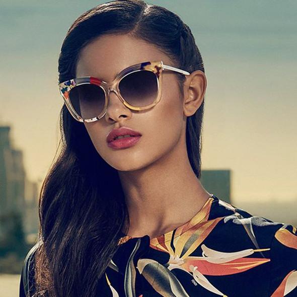Fashion Leopard Camouflage Jungle Style Sunglasses Women Square Brand Design Sun Glasses