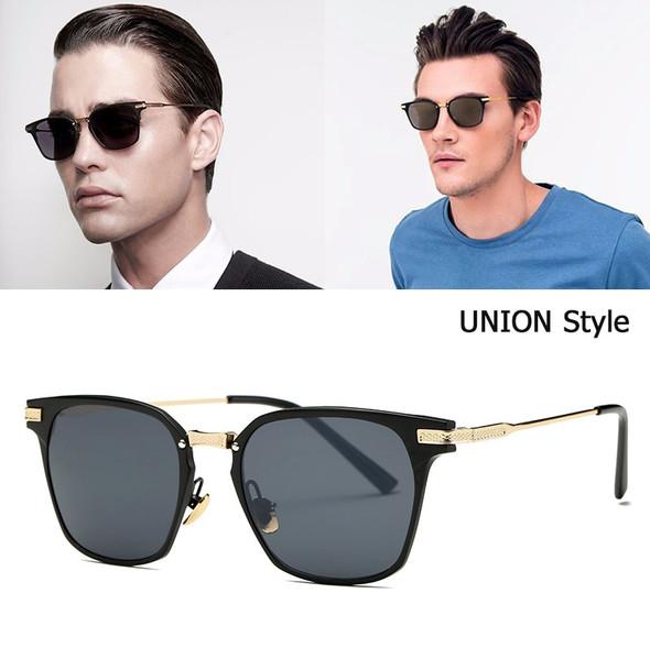New Fashion Cool Square Metal Frame UNION Style Sunglasses Brand Design Vintage Mirror Sun Glasses
