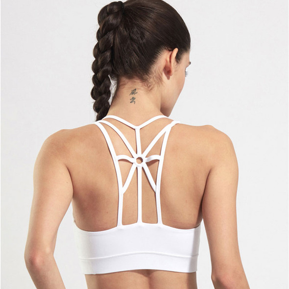 Sports Bra Top Women Backless Fitness Wire Free Yoga Bra Gym Padded Sports Top Athletic Quick Dry Workout Bras