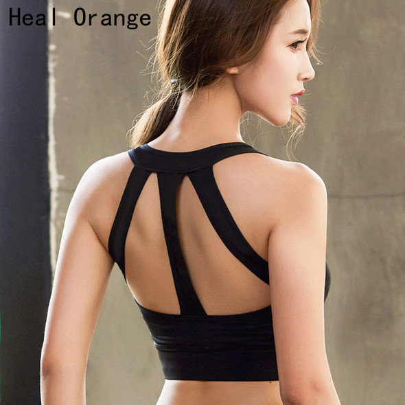 Back Hollow Shockproof Yoga Sport Top Bra With Pad Sports Tops Female For Fitness Women'S Sports Shirts Activewear