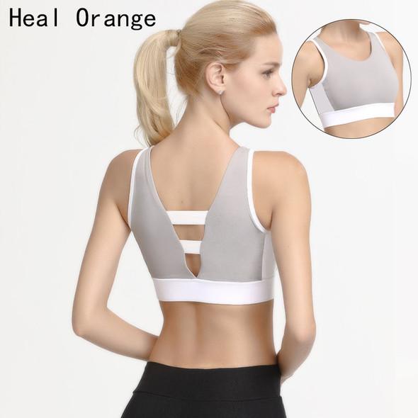 Beauty Back Wear On Both Sides Womens Sport Bra Padded Brassiere Femme Fitness Tank Top Bra Gym Bras Lingerie Cloth
