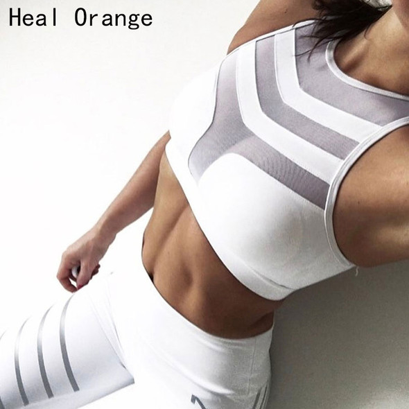 Woman Sport Bra Top Women Crop Top Cropped Padded Bra Tank Top Vest Fitness Stretch Push Up Women'S Mesh Tanks Workout Bras