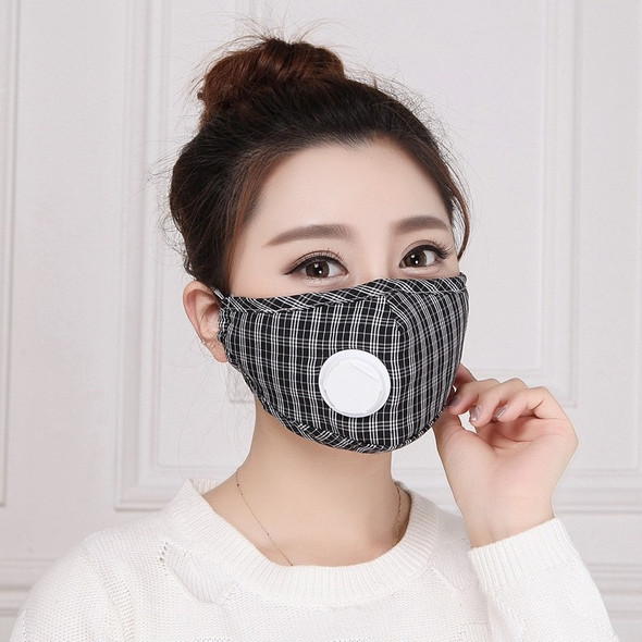 5pcs/Pack With Respiratory Valve PM2.5 Cotton Thick Dust And Haze Protection Mask Men And Women Winter Mask Mouth Mask