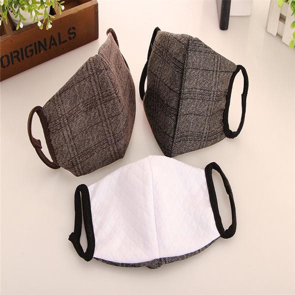 10pcs/New Grid Anti-fog Haze Warm Fashion Masks