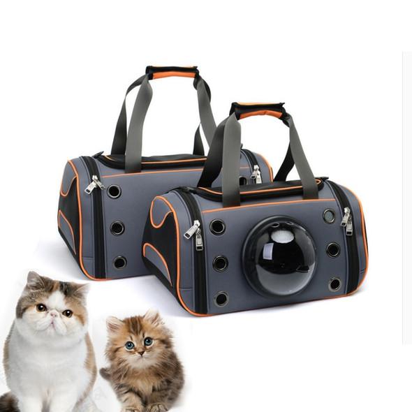Pet breathable canvas capsule pet backpacks cat/dog diagonal packs Outgoing cat skewer shoulder cat cages small pet suitcase