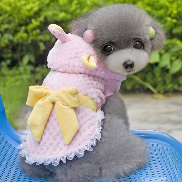 Pet Cotton Dress Cute Fall Winter Jacket Coat Cotton Wear  Lovely Princess Coat Dress Printed Dancing Girl Dress Puppy