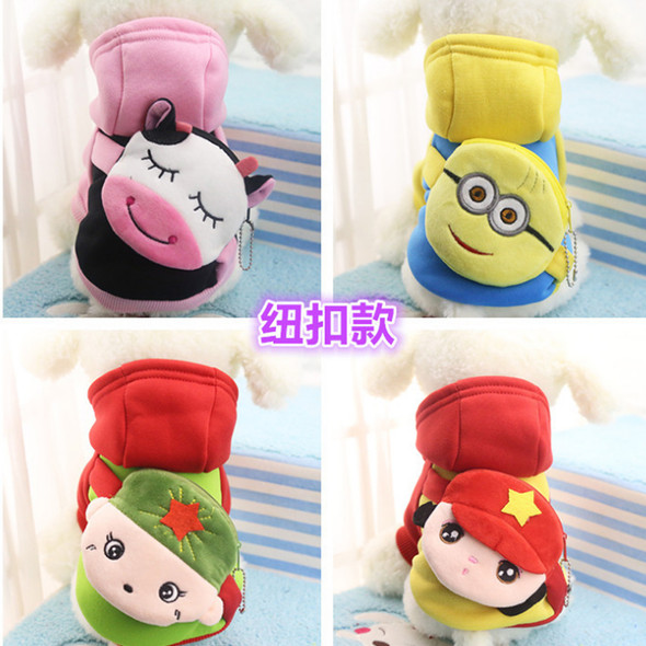 Pets Clothing Cartoon Pet Dog Clothes For Dogs Costume Hoodies Winter Dog Coat Jackets Puppy Outfit Pet Overalls For Dogs XS-XXL