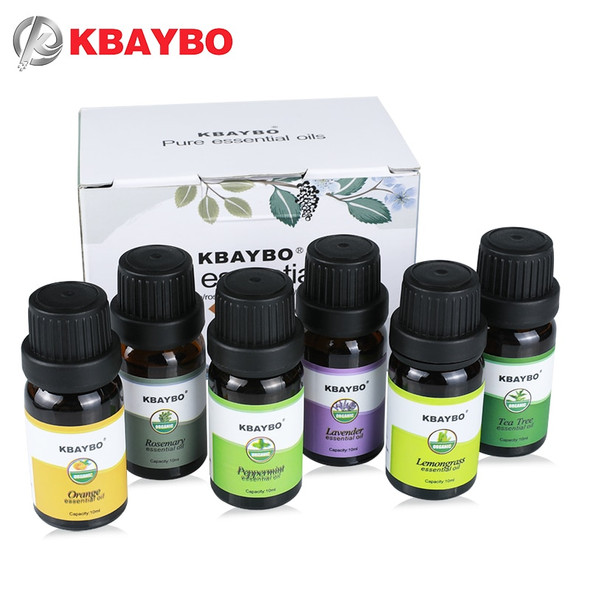 Essential Oils Aromatherapy Oil for aroma Diffuser Humidifier 6 Kinds Fragrance of Lavender Tea Tree Rosemary Lemongrass Orange