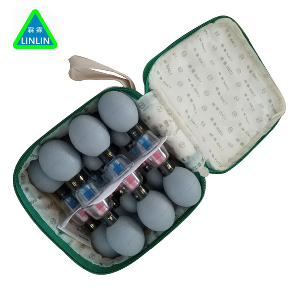 18PCS household Vacuum Haci Magnetic Therapy Acupressure Suction Cup TCM acupuncture and moxibustion cupping Health Care