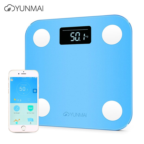Mini Smart Electronic LCD Digital Weight Scale Body Fat Bathroom Scale Smart Digital with App Control 3 Colors 180KG