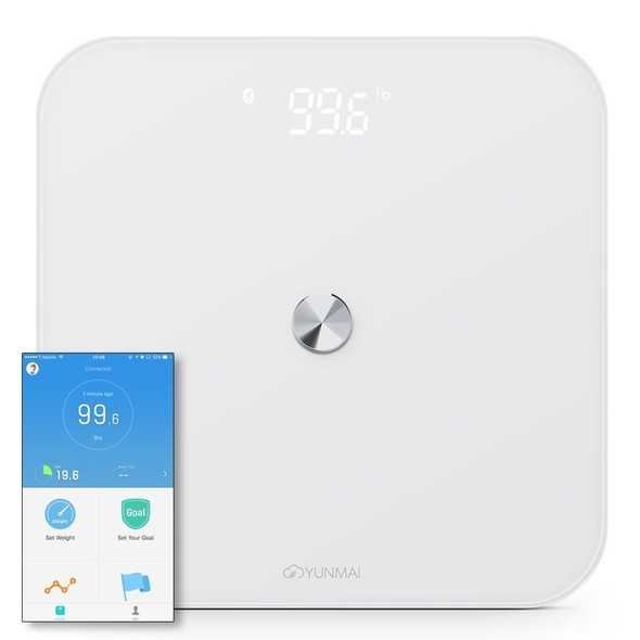 New Smart Body Weight Scale Health Care Tool Electric Digital LED Bathroom Scale Bluetooth 4.0 BMI With APP Control Square Scale