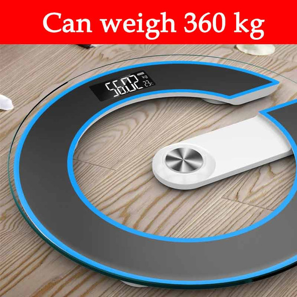 Solid Portable Toughened Glass Battery-driven Floor Scales Accurate Household Diet Smart Electronic Digital Weighting Scale