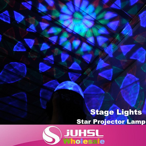 The new dual-socket, battery Mini Stage Star Projector Lamp, Auto Rotate colorful atmosphere of lights, indoor lighting