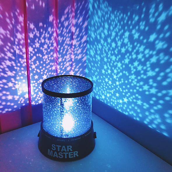 ICOCO LED Night Light Projector Starry Sky Star moon Master Children Kids Baby Sleep Romantic colorful Led USB Projection lamp