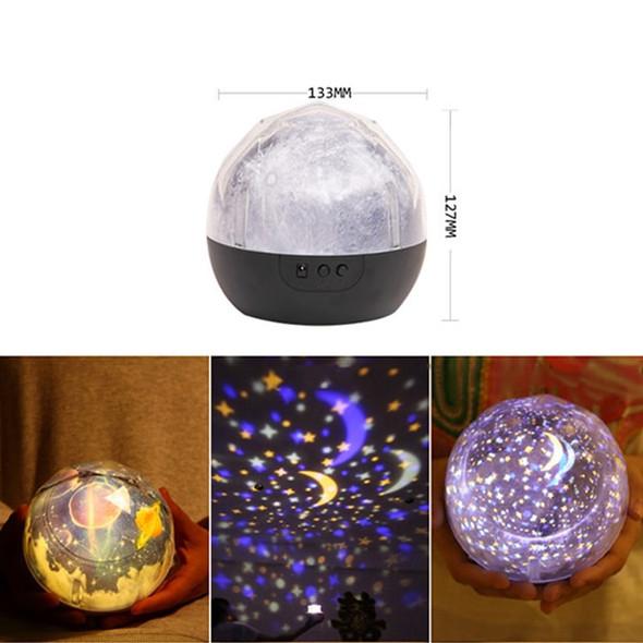 Stars Starry Sky LED Night Light Projector Luminaria Moon Novelty Table Night Lamp Battery USB Night Light