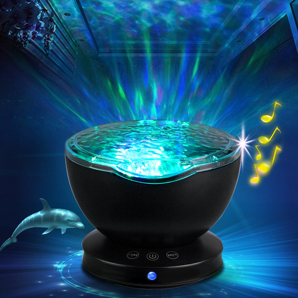 Ambient star Projector Ocean Wave Sleep moon lamp USB Night Light rechargeable gift Projector music