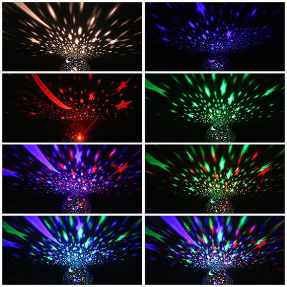 Rotating Star Novelty Night Light Romantic Moon Sky Rotation Night Projector Lamp LED USB Battery for Room Decor