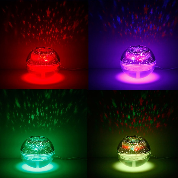 4 Colors Star Starry Sky Projector Lamp LED Night Light USB Powered Moon Light With Humidifier For Gift Home Decoration