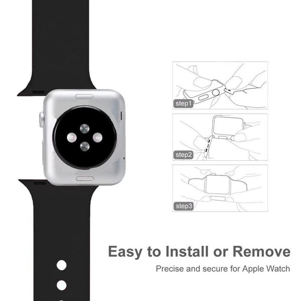 Band For Apple Watch Series 3 2 1 38MM 42MM Soft Silicone Breathable Replacement Strap Sport Loop for iwatch series 4 40MM 44MM