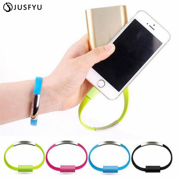 Bracelet Flat Wire 8 Pin USB Charger Cable Charging Data Cord For iPhone X 8 7plus ipad For Xiaomi Redmi Samsung Micro usb cable
