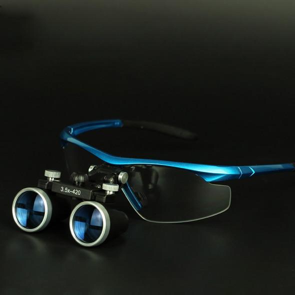 Dental Equipment 3.5X Surgical Medical Blue Dental Loupes Anti-fog Lens Dental Glasses