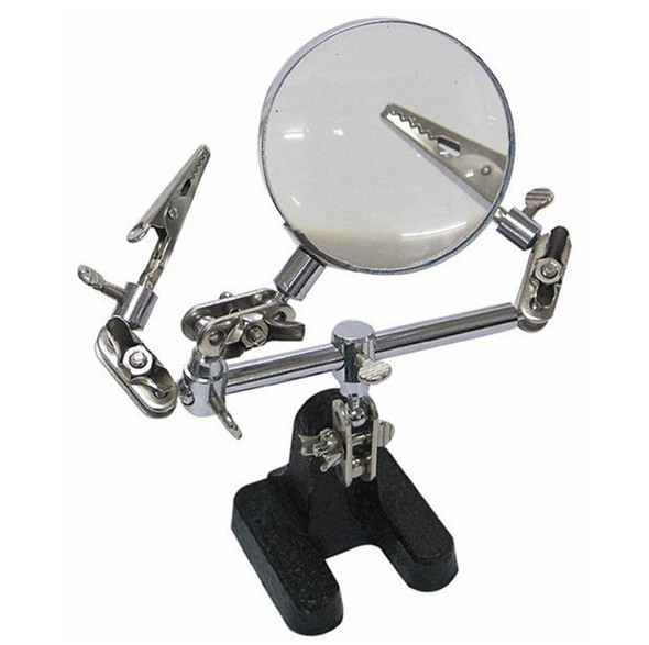 5x Helping Third Hand Magnifier Soldering Desk Magnifying Glass