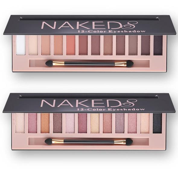 Branded Cosmetic Makeup Glitter Shimmer Matte Eye Shadow Palette Make Up 12 Colors Eyeshadow Palette Nudes Matte Women gift