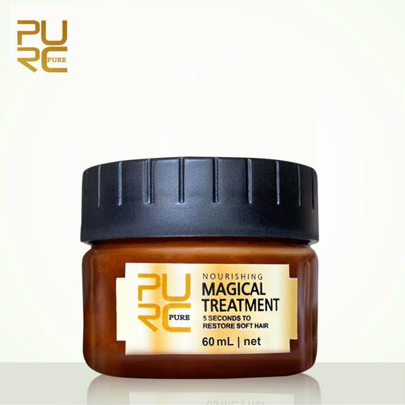 PURC 60ml Magical keratin Hair Treatment Mask 5 Seconds Hair Root Repair Nourishing Soft Hair Tonic Keratin Hair Scalp Treatment